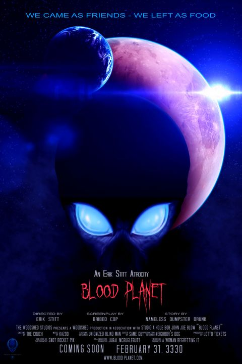 Blood Planet - Mock Movie Poster - The Art of Erik Stitt