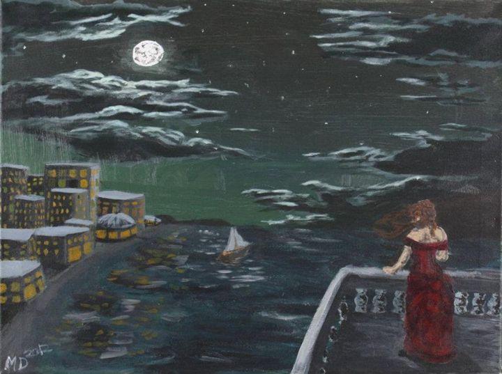 On the Dock at night - Marissa Danylik