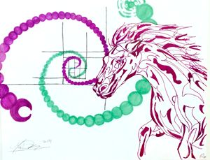 Horse Fibonacci spiral
