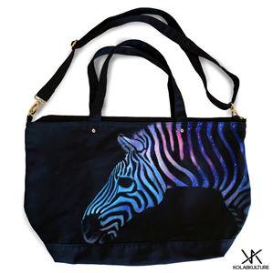 Zebra Galaxy Kolabkulture Tote Bag