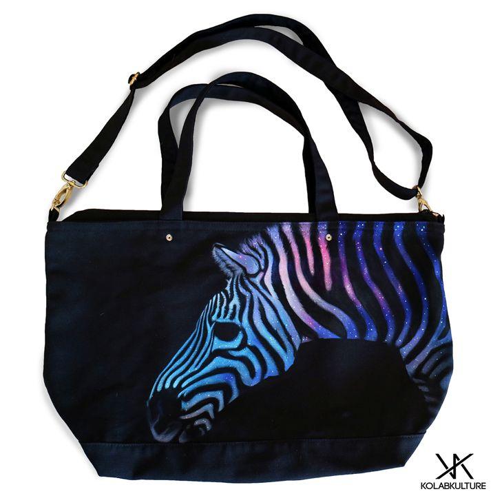 Zebra Galaxy Kolabkulture Tote Bag - Kolabkulture