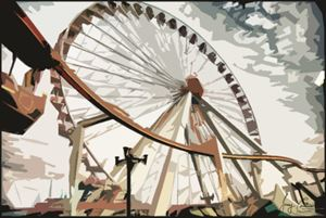 Morey's Piers Ferris Wheel - Wildwood Boardwalk Art