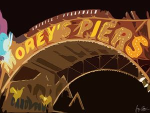 Morey's Piers Sign