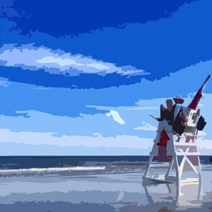 Beach Lifeguard - Wildwood Boardwalk Art
