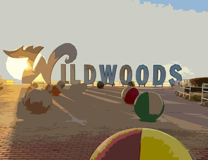 Wildwood Sign - Wildwood Boardwalk Art
