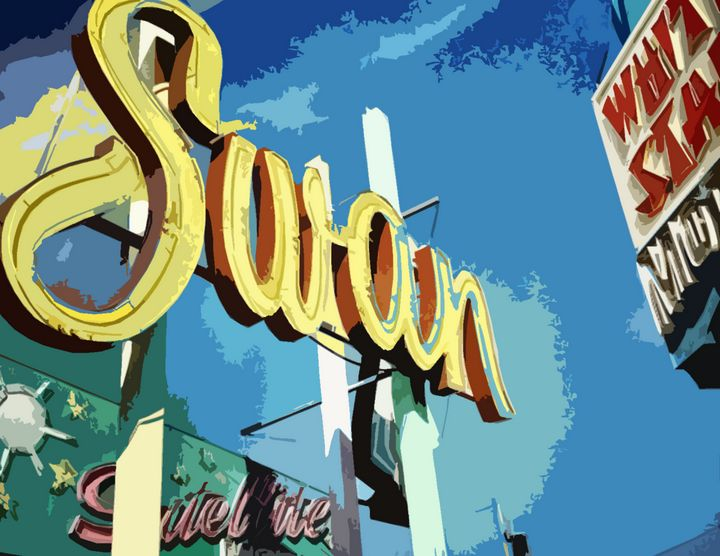 Doo Wop Neon Sign - Wildwood Boardwalk Art