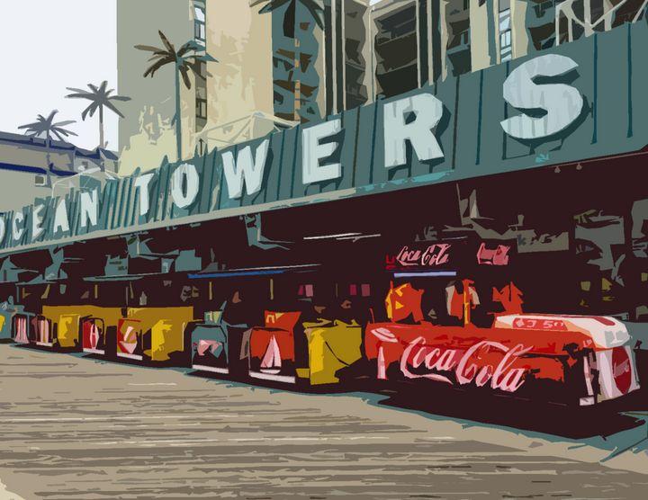 Wildwood Coke Tram Car - Wildwood Boardwalk Art