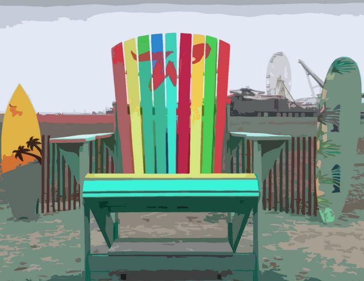 Beach Chair - Wildwood Boardwalk Art