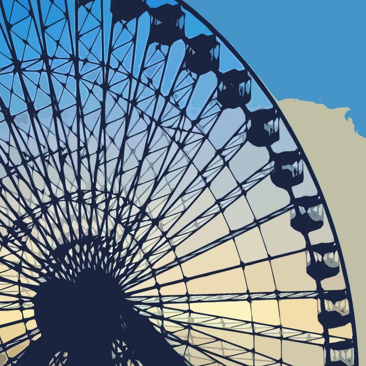 Wildwood's Ferris Wheel - Wildwood Boardwalk Art