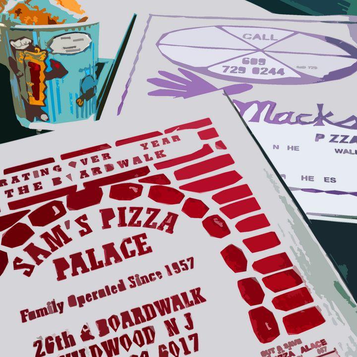 Sams Pizza Vs Mack's Pizza - Wildwood Boardwalk Art