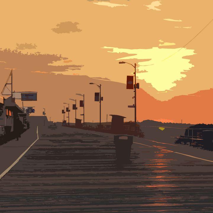 Sunrise over the Wildwood Boardwalk - Wildwood Boardwalk Art
