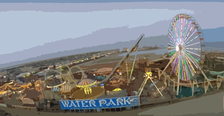 Amusement Park By The Sky - Wildwood Boardwalk Art