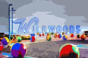 Wildwood Sign In Color - Wildwood Boardwalk Art