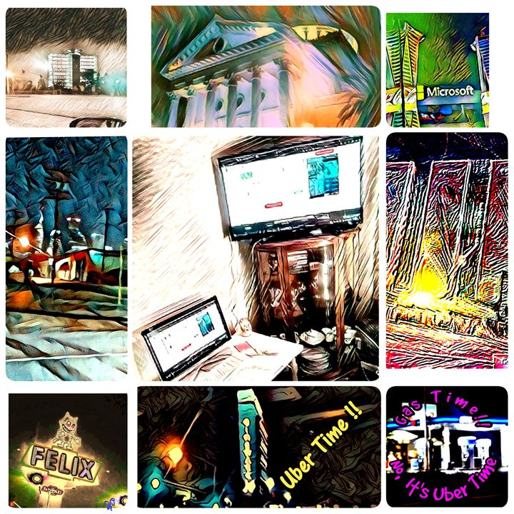 Collage of  LA places I have been - Uberr Time Moments