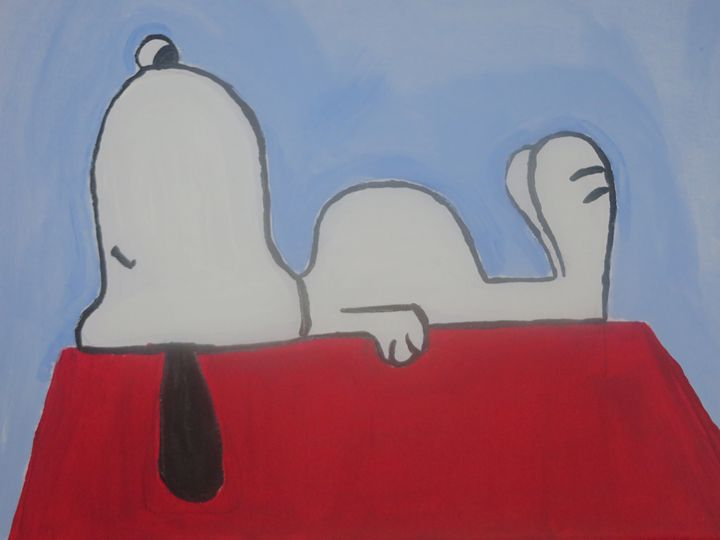 Snoopy Sleeping - Lisa m Art
