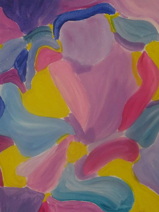 Abstract Floral - Lisa m Art