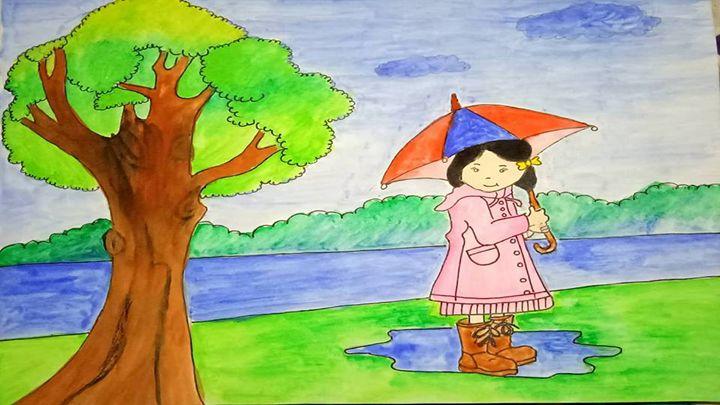 LOVABLE GIRL INTO RAIN - Anindita Samanta