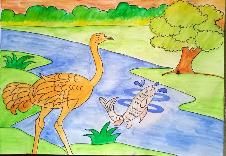 HAPPY BIRD & FISH - Anindita Samanta