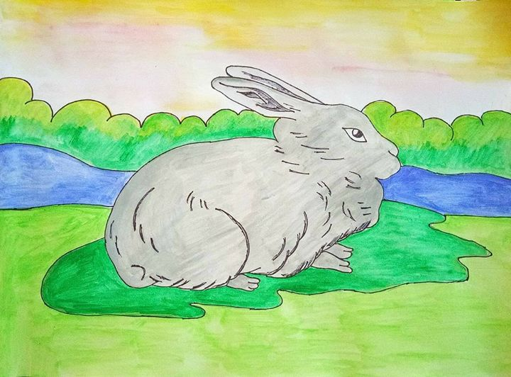 A Rabbit looking for food - Anindita Samanta