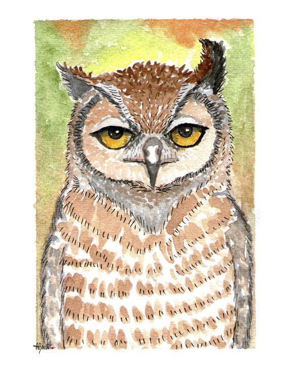 Tucuquere Owl - AngelicaBalditArt