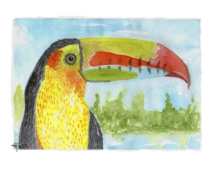 Tucan Pico Iris - AngelicaBalditArt