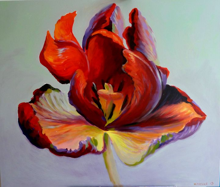 Flame I - Kamille Saabre paintings