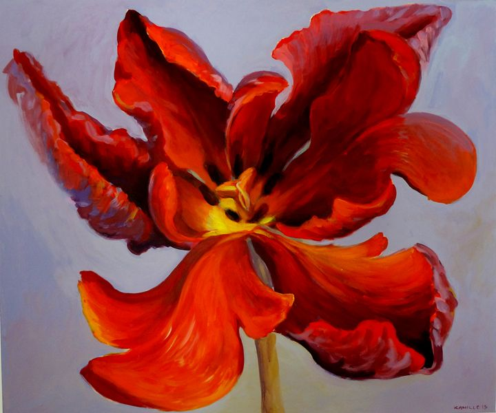 Flame II - Kamille Saabre paintings