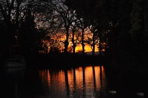 Sunset on Canal du Midi