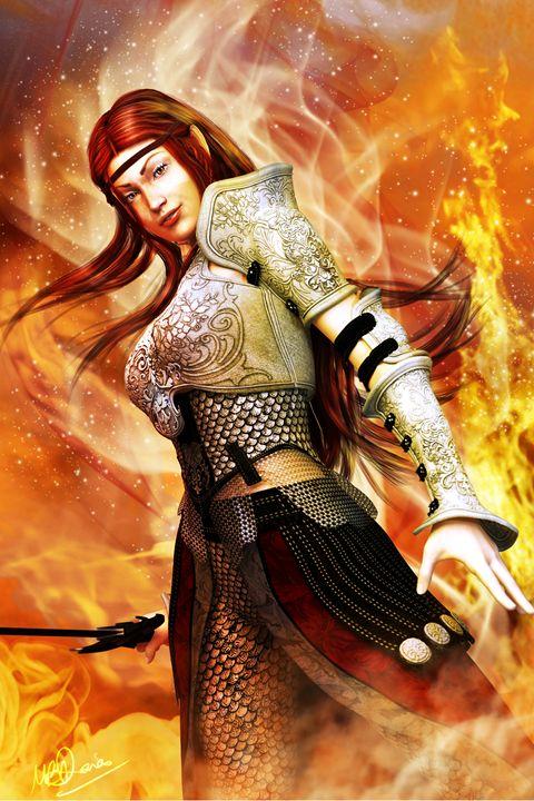 Fire Elf - 3D Fantasy Art