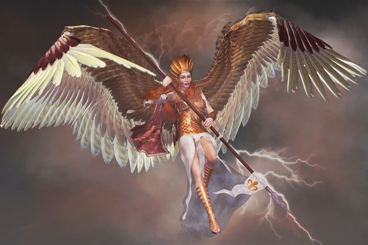 Lightning Angel - 3D Fantasy Art