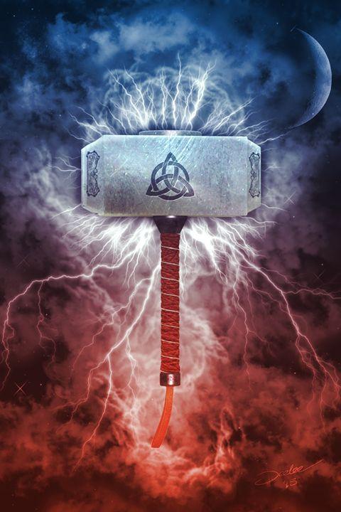 Mjolnir 3d Fantasy Art Digital Art Fantasy Mythology