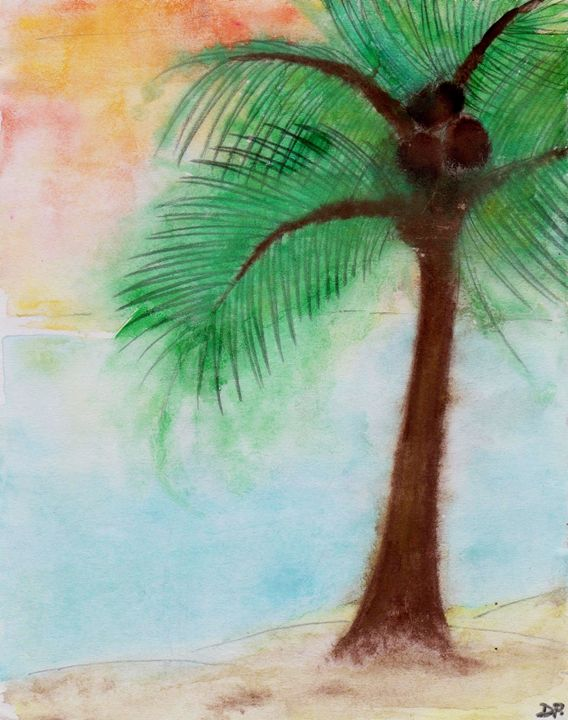 Tropical Beach - Donna Pavlovich