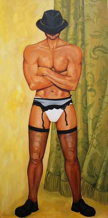 The Man with Stockings - Tiziana Fejzullaj