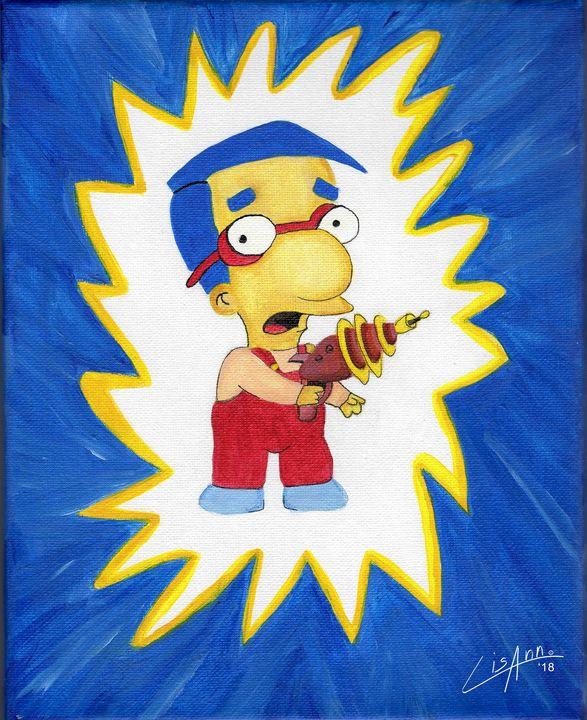 "Milhouse ""What!"" - Lisa Ann Gaydos"