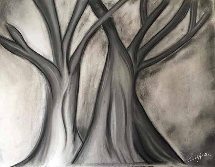 Charcoal Trees - Lisa Ann Gaydos