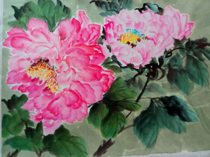 peony12252019-02 - sundongling watercolor  flower