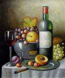 Still Life: fruit and wine
