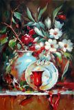 Still life - flower and china