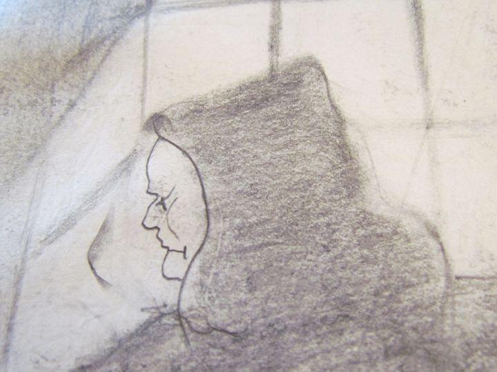 Monk At Window - Webster original art