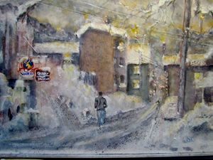 Steel Valley Winter - Webster original art