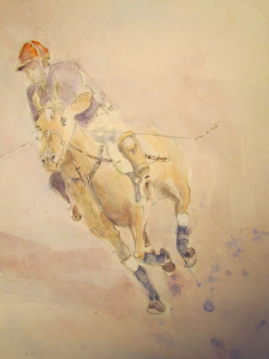 Polo Player - Webster original art
