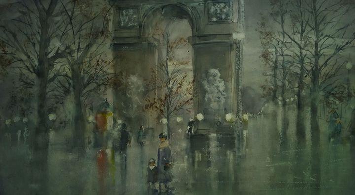 Arc de Triomphe - Webster original art