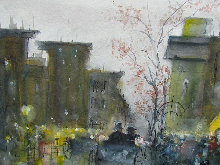 Paris Early Evening - Webster original art