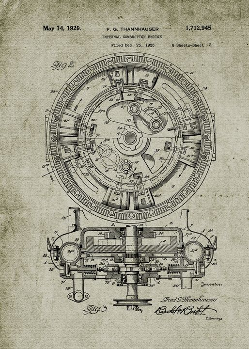 1925 Internal Combustion Engine - Patents