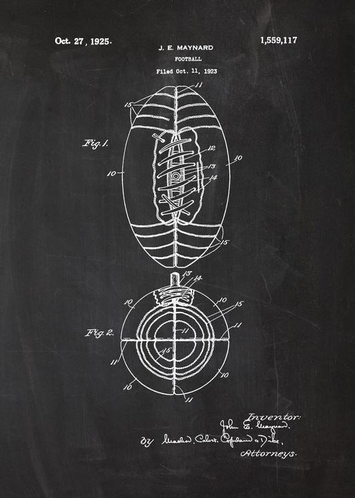 1925 Football - Patent Drawing - Patents