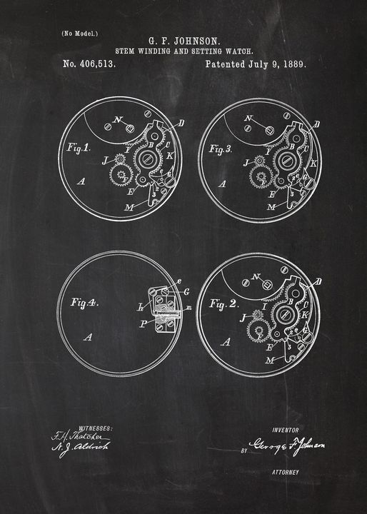 1889 Stem Winding and Setting Watch - Patents