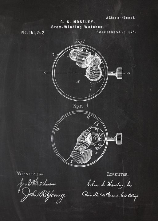 1875 Stem Winding Watches - Patents