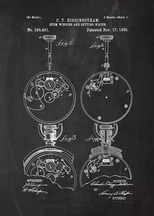 1885 Stem Windind and Setting Watch - Patents