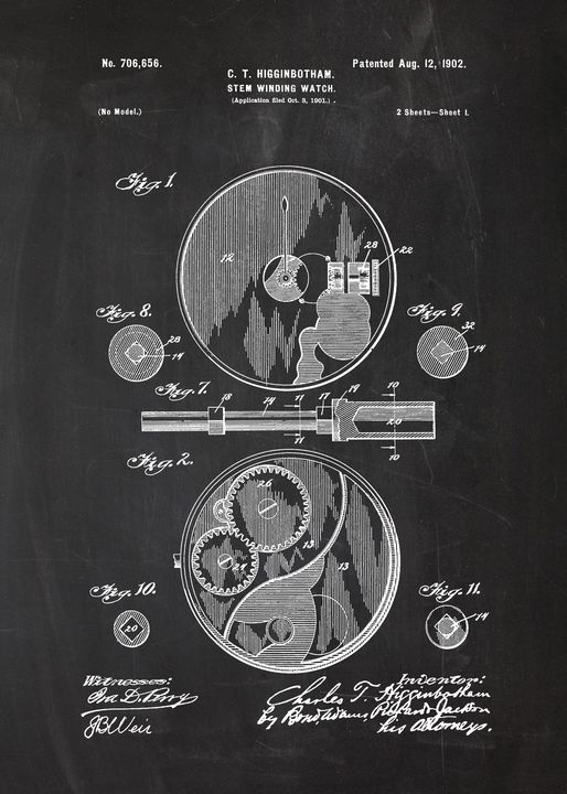 1901 Stem Winding Watch - Patents