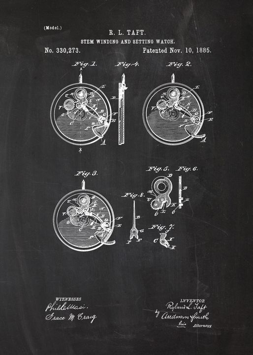 1885 Stem Winding and Setting Watch - Patents
